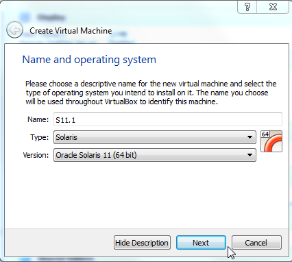 Step by step Solaris 11 1 installation guide on a virtual